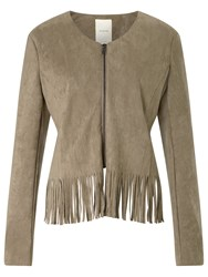 Numph Numph Basil Suede Look Jacket Fossil
