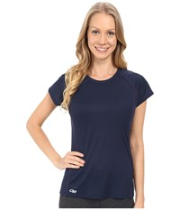 Outdoor Research Echo S S Tee Typhoon Night Women's Clothing Blue