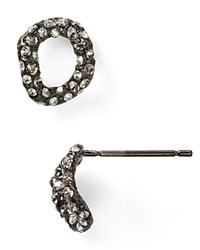 Alexis Bittar Elements Jardin De Papillon Chain Link Stud Post Earrings Gunmetal