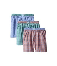 Original Penguin 3 Pack Boxers Orange Plaid Purple Plaid Turquoise Plaid Men's Underwear Multi