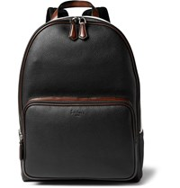 Mr Porter Berluti Time Off Grained Leather Backpack Black