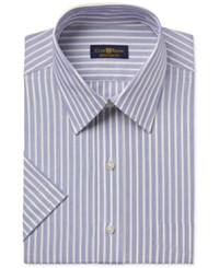 Club Room Men's Easy Care Yellow Striped Short Sleeve Dress Shirt Only At Macy's