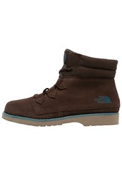 The North Face Ballard Winter Boots Demitasse Brown Tapestry Blue Dark Brown