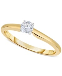 Macy's Engagement Ring Certified Diamond 1 3 Ct. T.W. And 14K White Or Yellow Gold