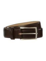 Howick Plain Bevelled Edge Nubuck Belt Brown