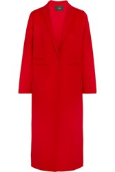 Maje Wool Blend Coat Red