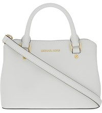 Michael Michael Kors Savannah Small Saffiano Leather Satchel Optic White
