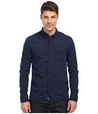 Mavi Jeans Button Down Dark Indigo Men's Long Sleeve Button Up Blue