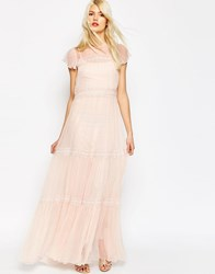 Needle And Thread Chiffon Lace Gown Maxi Dress Ballet Pink