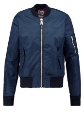 Schott Nyc Bomber Jacket Navy Dark Blue