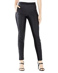 Bcbgmaxazria Nicolar Quilted Faux Leather Pants Black
