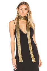 House Of Harlow X Revolve Rhodes Scarf Metallic Gold
