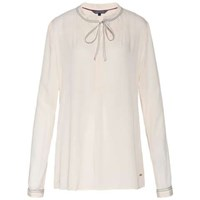 Tommy Hilfiger Ricci Bow Tie Blouse Cream