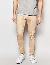 Asos Super Skinny Jeans In Light Pink Pink