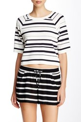 French Connection Joshua Stripe Crop Top Multi