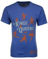 108 Stitches Men's New York Mets King Of Queens T Shirt Royalblue