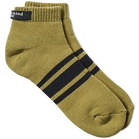 Mastermind Japan Striped Sock Brown