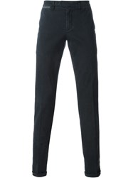 Eleventy Slim Chino Trousers Blue