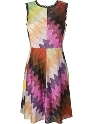 Missoni Cut Out Detail Fitted Knitted Dress Multicolour