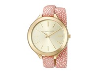 Michael Kors Slim Runway Mk2476 Gold Pink Analog Watches