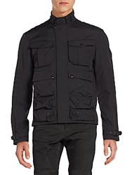Ralph Lauren Poly Oxford Touring Jacket Black