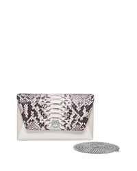 Akris Anouk Mini Chain Python Clutch Bag Brown Pattern