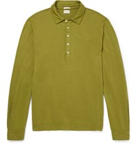 Massimo Alba Ischia Slim Fit Cotton And Cashmere Blend Polo Shirt Green