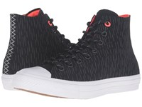 Converse Chuck Taylor All Star Ii Shield Canvas Hi Black Reflective Lava Lace Up Casual Shoes