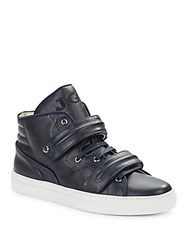 John Galliano Solid Suede Sneakers Blue