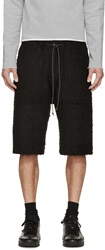 Attachment Black Wool Shorts