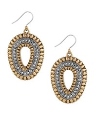Lucky Brand Two Toned Tribal Earrings
