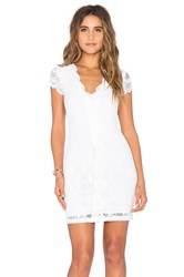 Nightcap Victorian Lace Cap Sleeve Dress White
