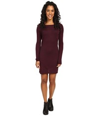 Smartwool Camp House Solid Dress Aubergine Heather Women's Dress Brown