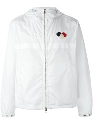 Moncler Hooded Windbreaker Jacket White