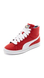 Puma X Dee And Ricky Basket Cr Sneakers Ribbon Red White