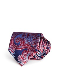 Bloomingdale's The Men's Store At Large Paisley Classic Tie Navy Red