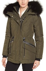 Mackage Women's Water Resistant Down Parka With Genuine Fox Fur Trim