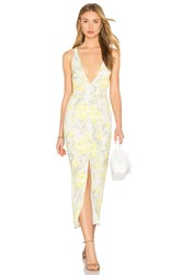 Oh My Love Maxi Plunge Dress Yellow