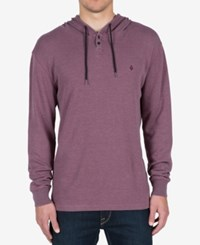 Volcom Men's Murphy Thermal Hooded Knit Wine