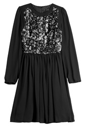 Steffen Schraut Nightsky Dress With Sequins Black