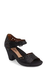 Women's Cobb Hill 'Trista' Peep Toe Pump Black Leather