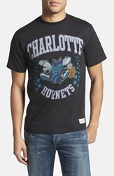 Men's Mitchell And Ness 'Charlotte Hornets Shooting Stars' Tailored Fit Graphic T Shirt