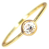 Hysteric Co. Single Bezel Ring Gold