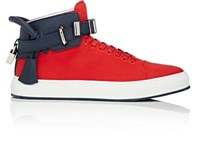Buscemi Men's 100Mm Canvas Sneakers Red