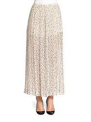 See By Chloe Pleated Printed Maxi Skirt Floral