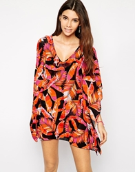 Moontide Camoleaf Caftan Orange