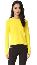 Rag And Bone Valentina Cashmere Cropped Sweater Yellow
