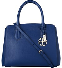 Lk Bennett Catrina Saffiano Leather Tote Bag Blu Navy