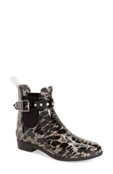 Women's Halogen Waterproof Chelsea Bootie Grey Leopard