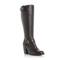 Linea Treats Double Strap Knee High Boots Black